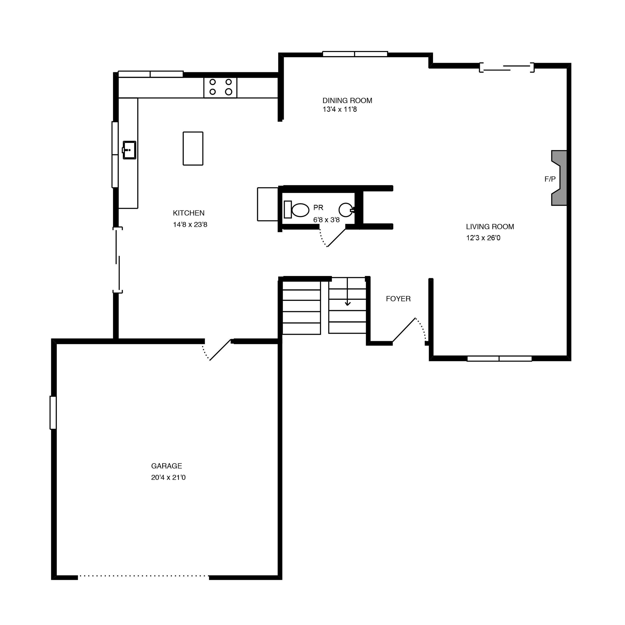 the floor plan -