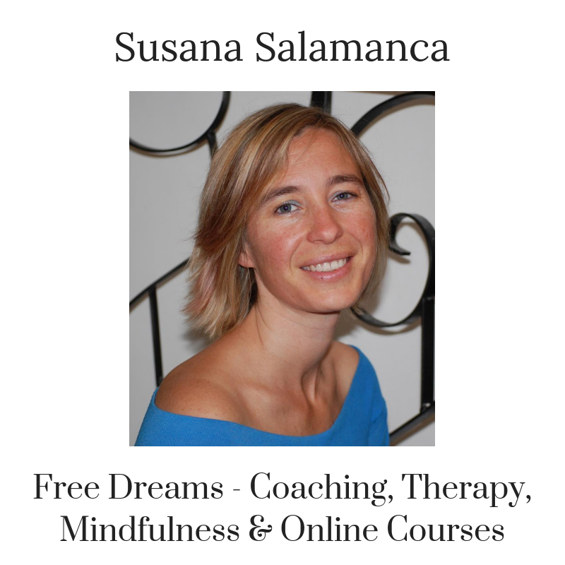 @freedreamsonline     Susana Salamanca has been helping people to liberate trapped emotions, change old patterns and reconnect with themselves through animals and nature since 2006. Since she is a pioneer of this type of work in Spain, some of her projects have been well covered by Spanish, English and German press and TV in her area. She has merged her CBT knowledge together with coaching, mindfulness, animal assisted therapy, shamanism and meditation; creating a new approach where she guides her clients to use new tools and tackle those issues they want to leave behind, in an effective way and to create the future or their dreams.
