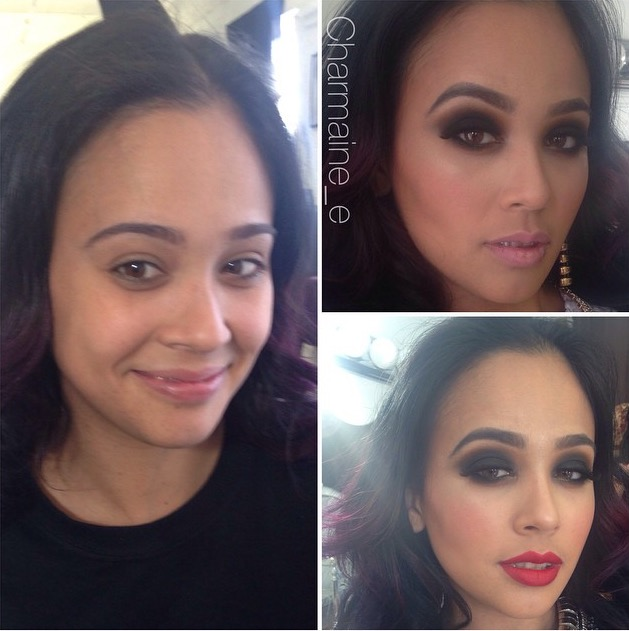 Makeup before & after