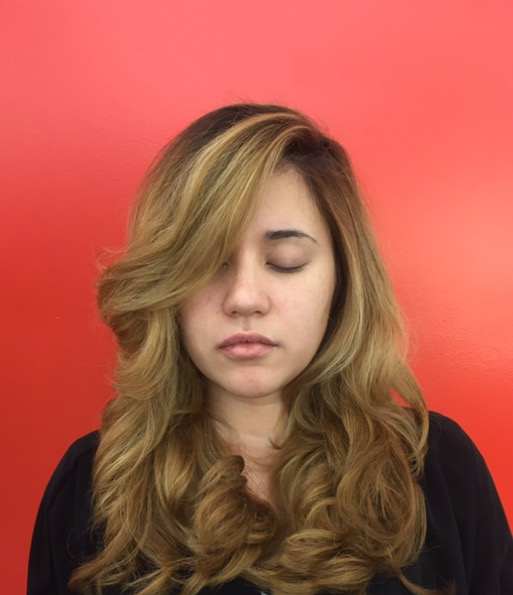 Long Layers hair cut & Blow Out