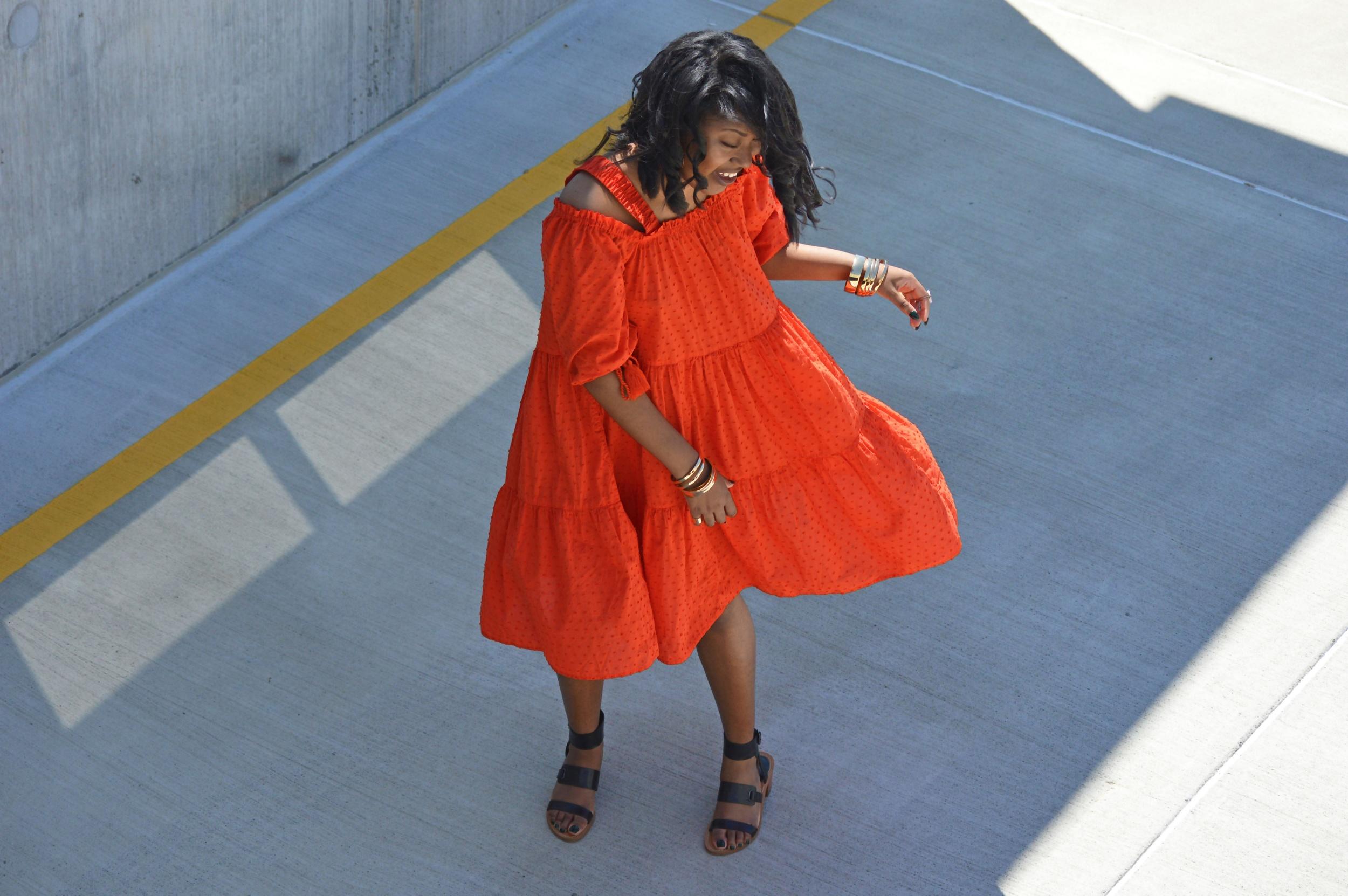 Dress; H&M | Bracelets; Forever 21 | Shoes & Rings; Model's Own