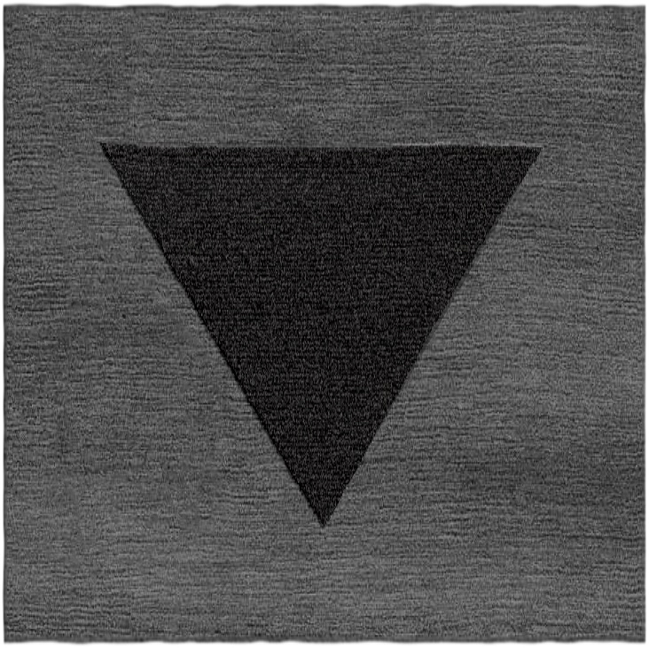 Triangle Carpet (Salt n Pepper Pubes), 2019, Wool yarn.jpg