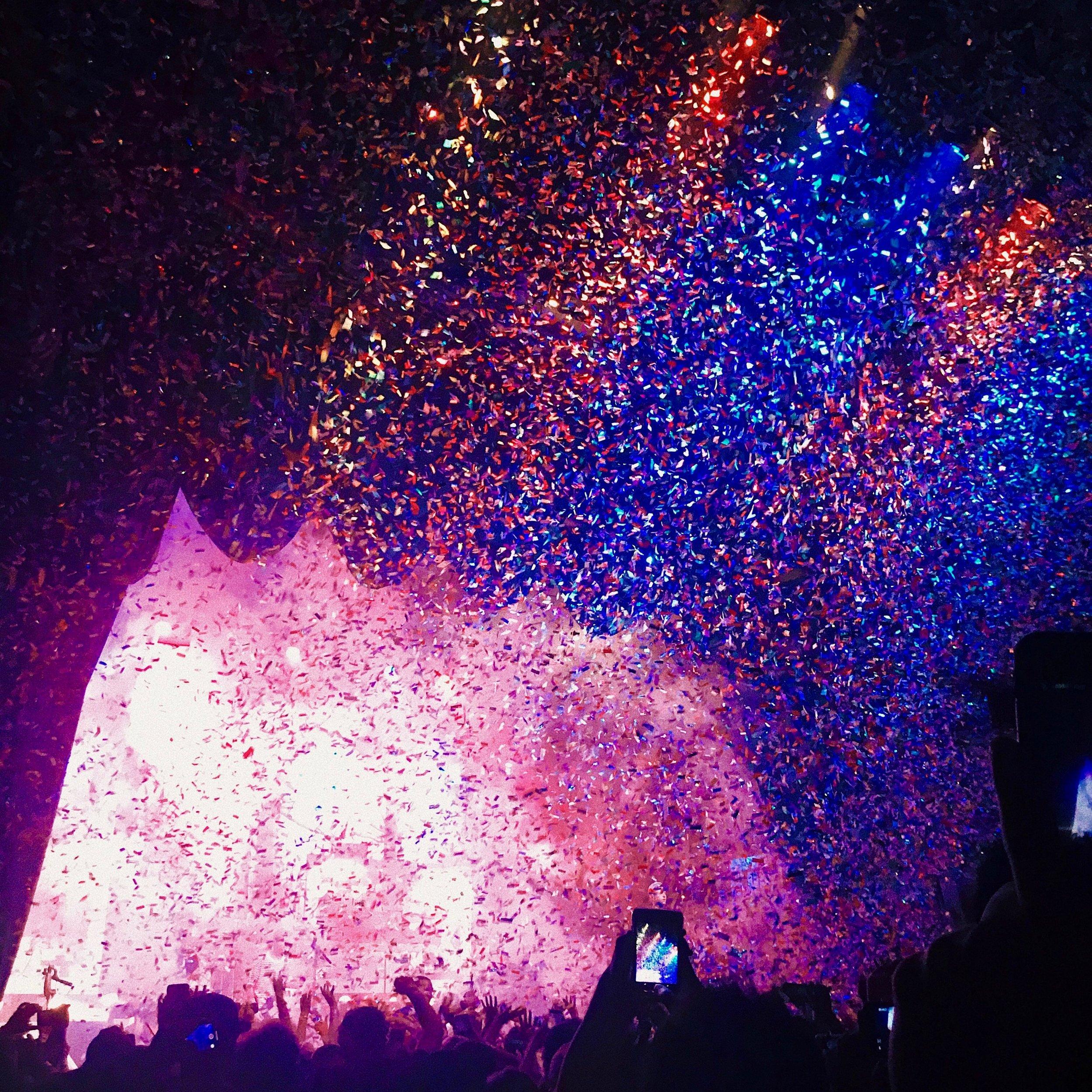 60. Confetti at concerts