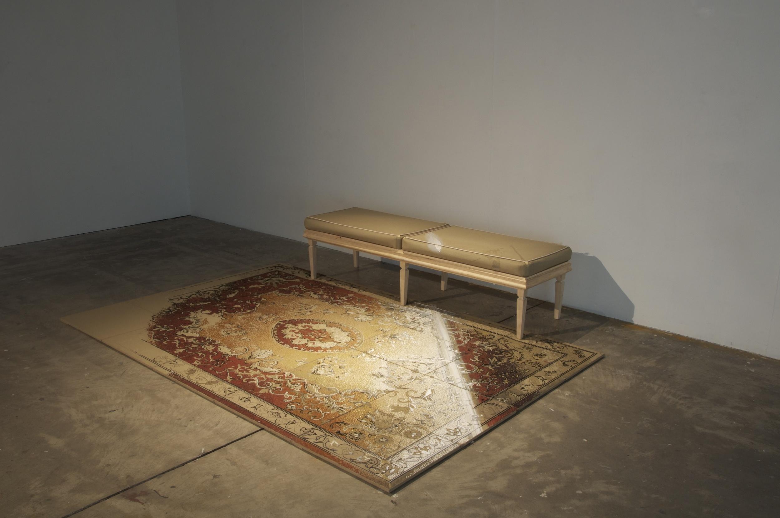 8.Georgina Cue, Versailles, 2012, Acrylic yarn on tapestry canvas, hard wood and cardboard, 225cm × 170cm × 71cm.jpg