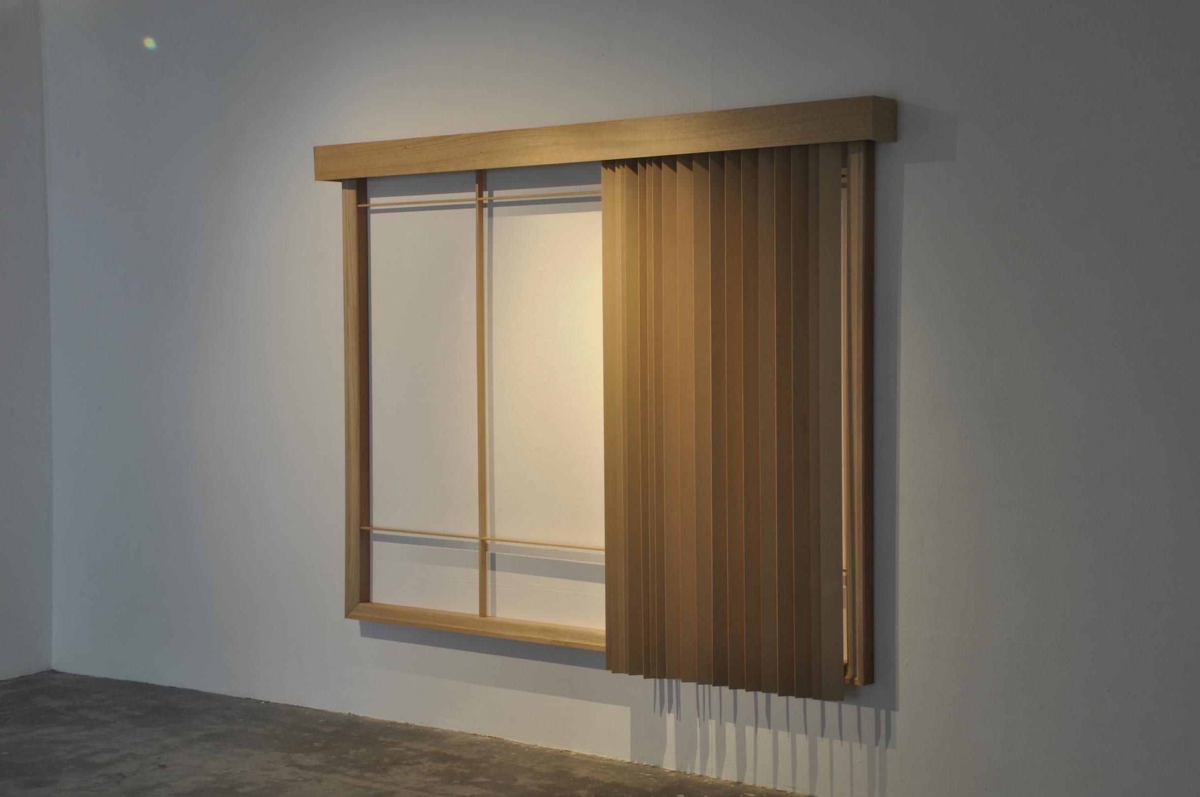 10.Georgina Cue Rear Window, 2012, Hard wood and MDF, 290cm  × 195cm × 18cm 6.18.04 pm.JPG