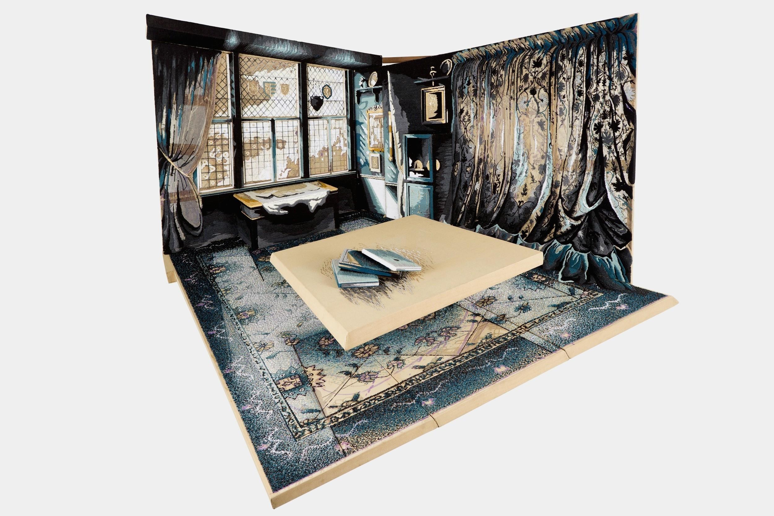 4.Georgin Cue, 'The Aleph', 2010, Acrylic yarn on tapestry canvas, 198cm by 187cm by 133cm 8.11.40 pm.jpg