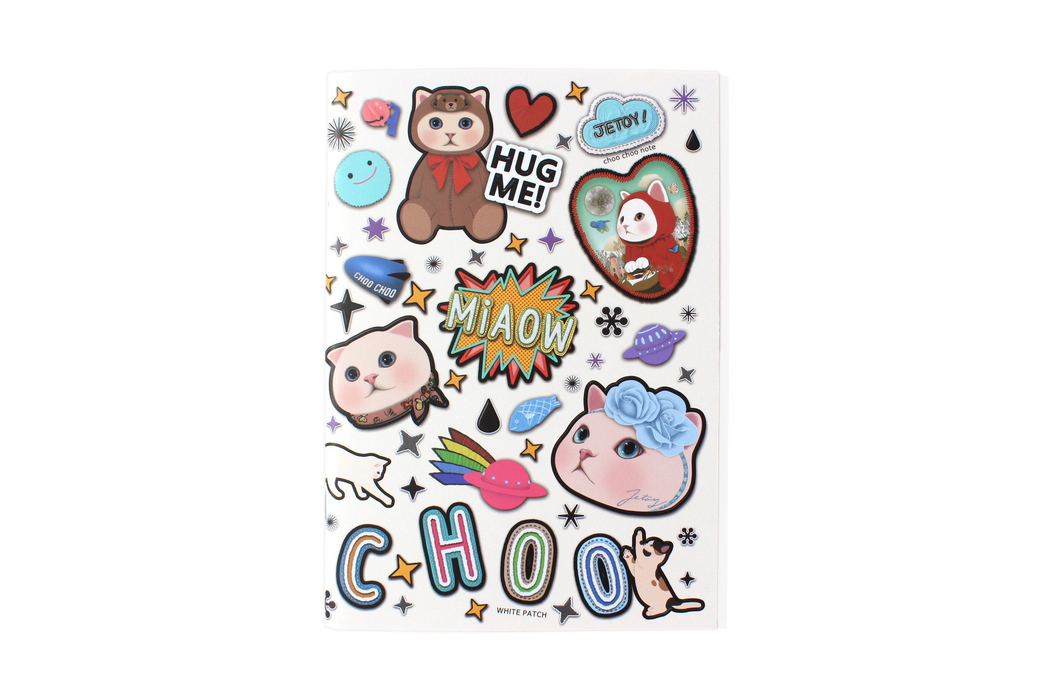 CATS PATCH PRINT NOTEBOOK