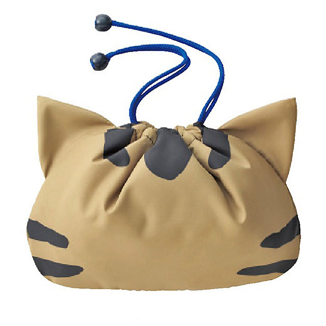 CAT DRAWSTRING BAG WITH LINING