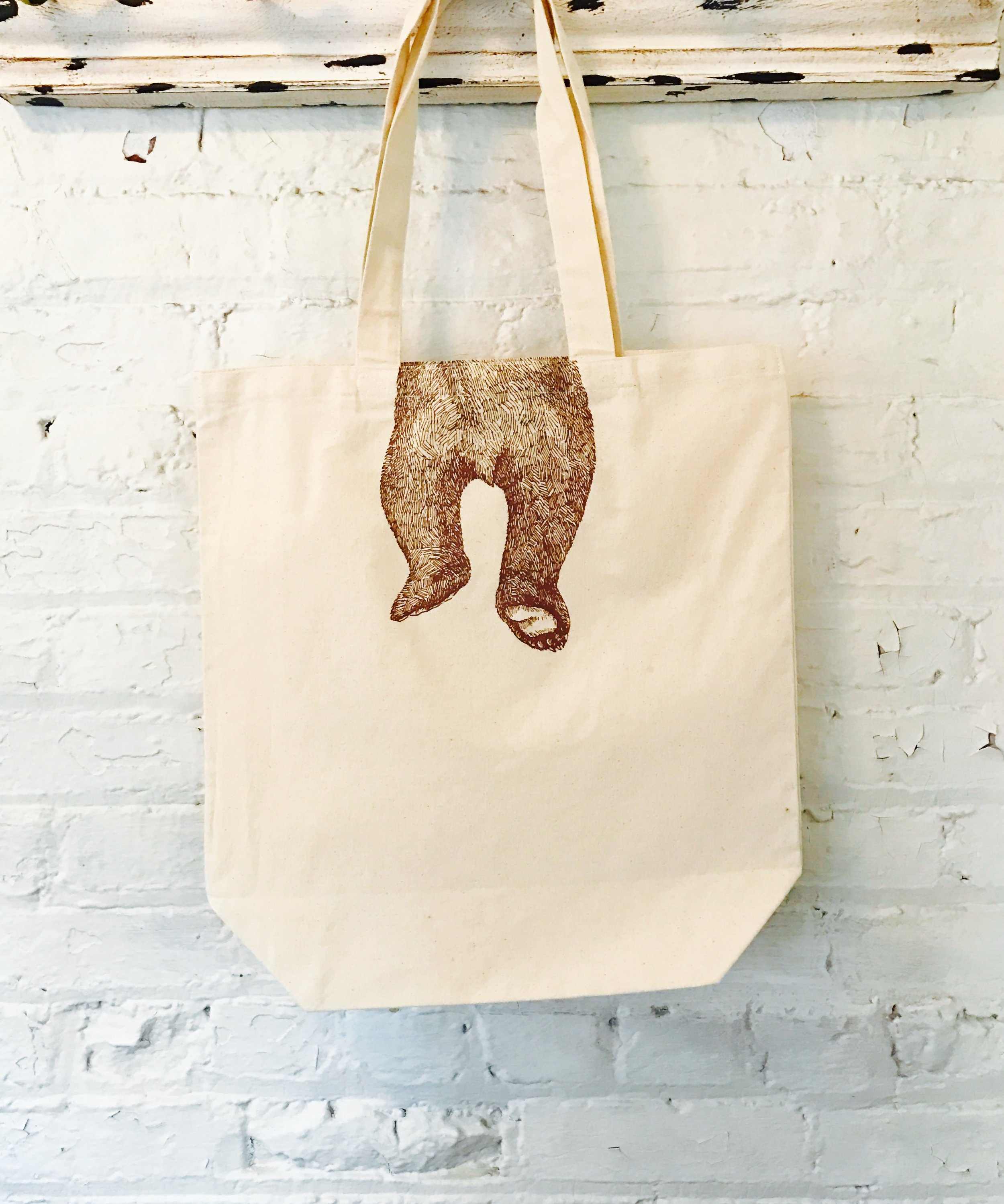 BEAR CANVAS TOTE