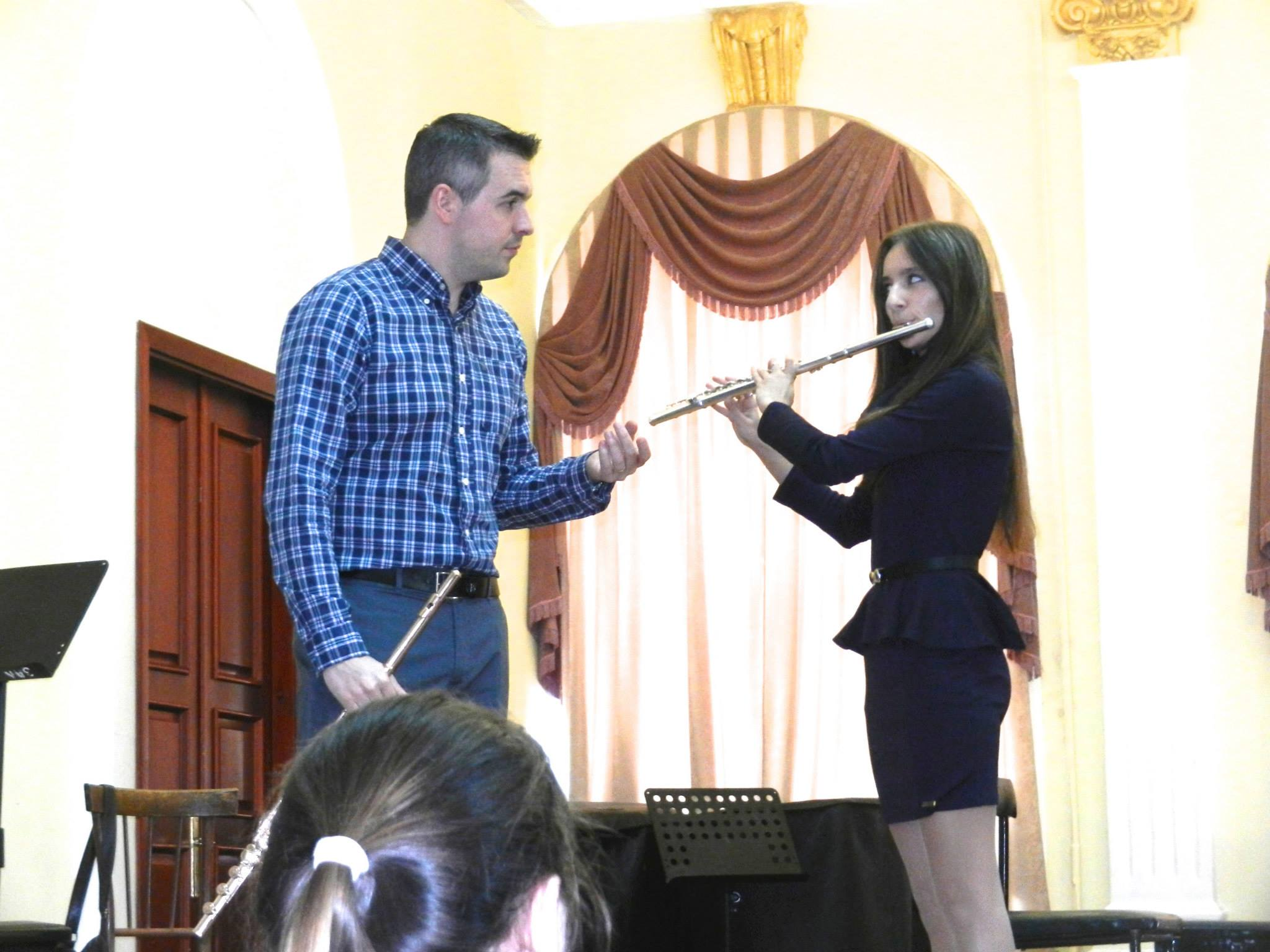 With a Flute Student in Kazan