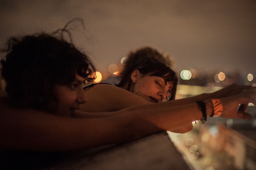 'MINA AND BRE. LATE NIGHT NYC ROOFTOP HANGS AFTER A SHOW' BY ALEC CASTILLO  @CASTILLOALEC