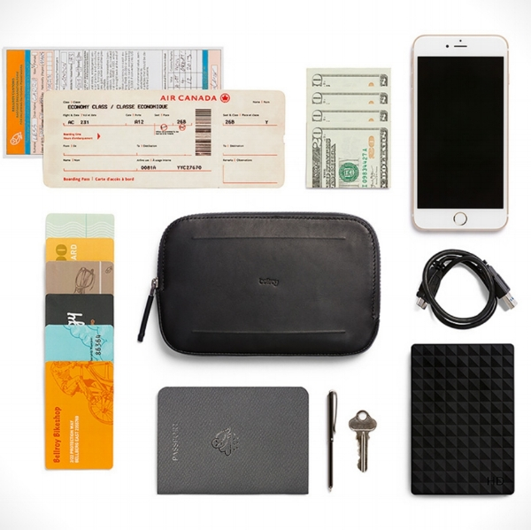 - The Wallet:the Bellroy All-Conditions Pocket wallets take weatherproof conditioning a step further while retaining the attractive look Bellroy has become famous for. The wallets are made from all conditions leather or woven fabric (depending on your preference), use a YKK Aquaguard Vislon zipper, and employ an easy-pull opening. Whether you are an all-weather urban commuter looking for a way to keep your phone and cash dry or a serious outdoorsman in need of a waterproof pouch to organize your I.D., phone, and keys, this is an ideal wallet.The Backpack:despite it's minimalist approach, the RAINS Backpack Mini does stay true to RAINS' priority for water-resistance. Constructed by a water-resistant polyurethane/polyester outer shell construction, featuring a front flap closure with adjustable metal buckle lock clip (along with a pocket for your laptop and a separate space for your valuables).