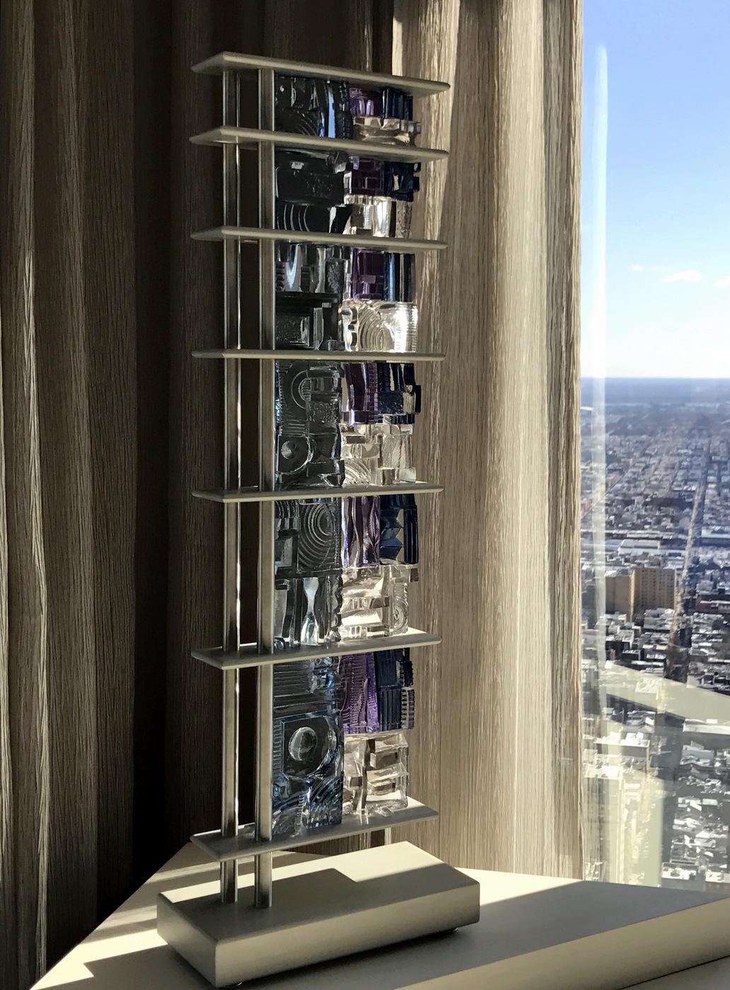 Art Glass, Michael Mikula, Architectonic Blown Glass Sculpture-063.JPG