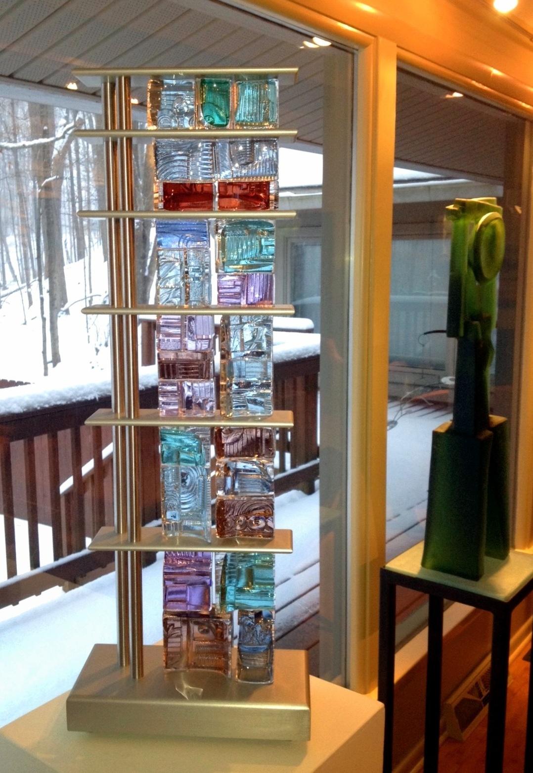 Art Glass, Michael Mikula, Architectonic Blown Glass Sculpture-061.jpg