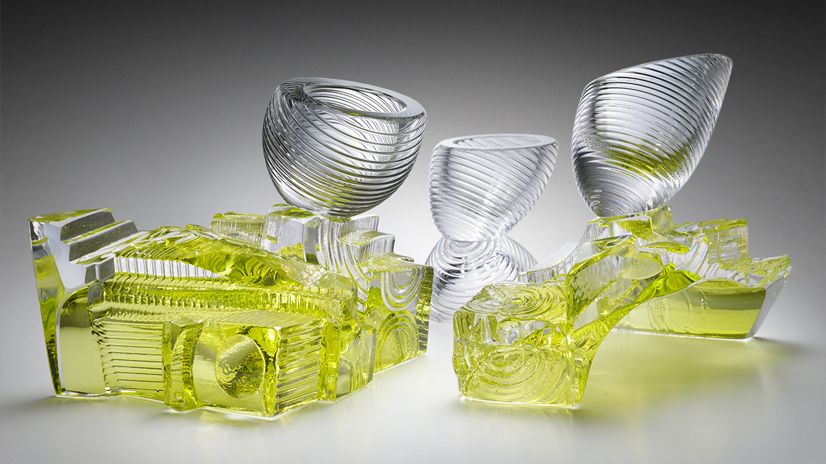 WHIRLWINDS CHALICE SET,  each 10 x 6 x 8 inches