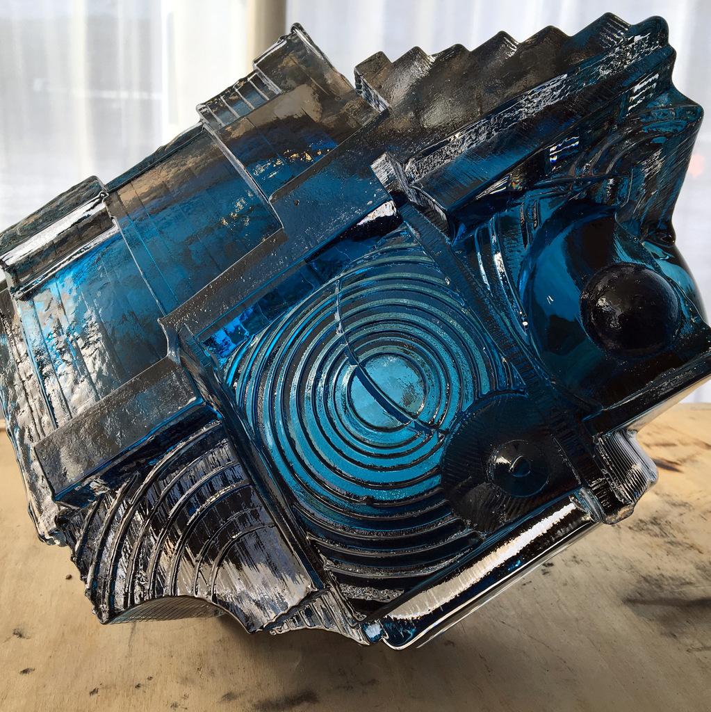 Art Glass, Michael Mikula, Architectonic Blown Glass Sculpture-035.JPG