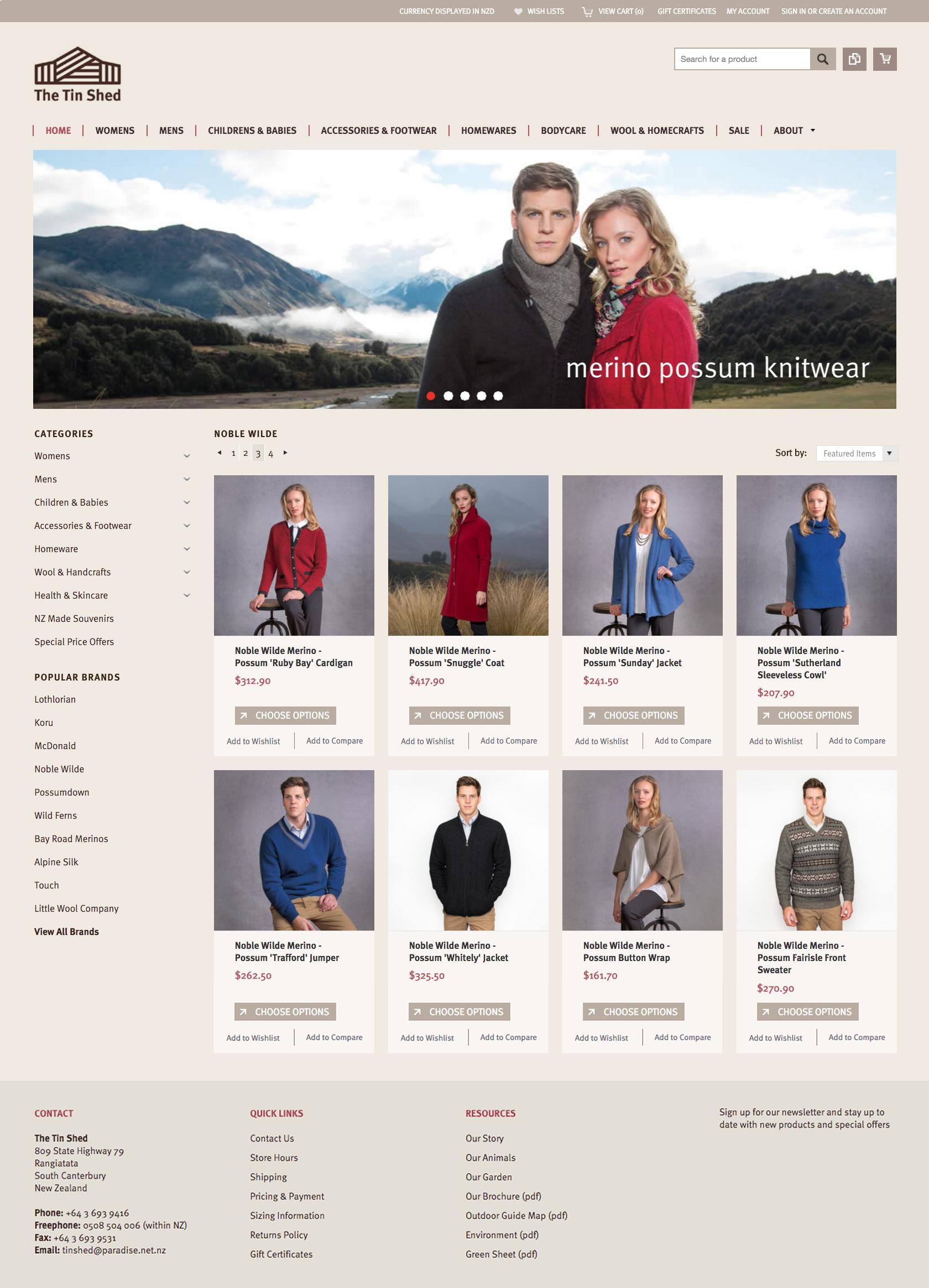 The Tin Shed – Fashion retailer