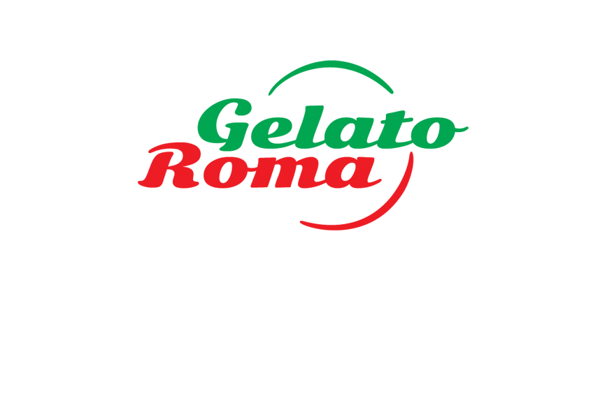 Gelato Roma – logo (stacked version)