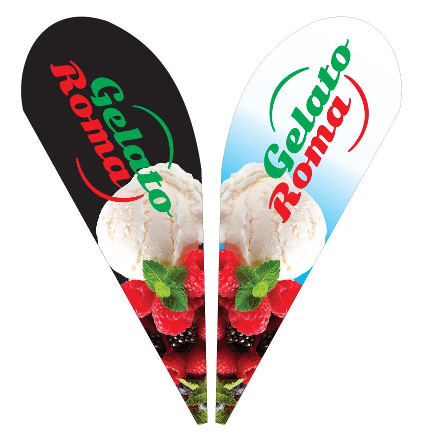 Gelato Roma – Street flag design.
