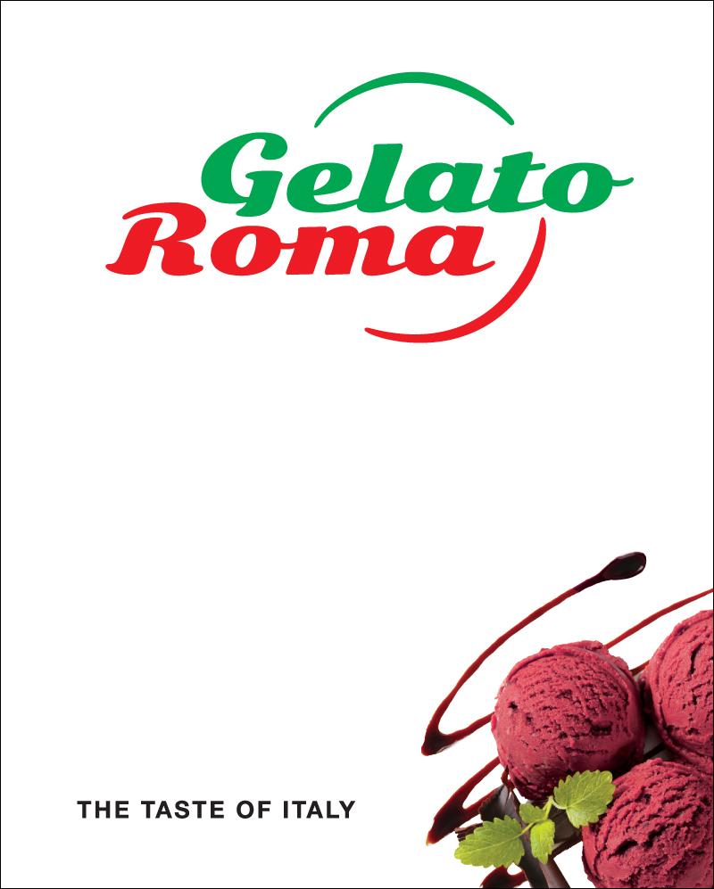 Gelato Roma – Street sign (white).