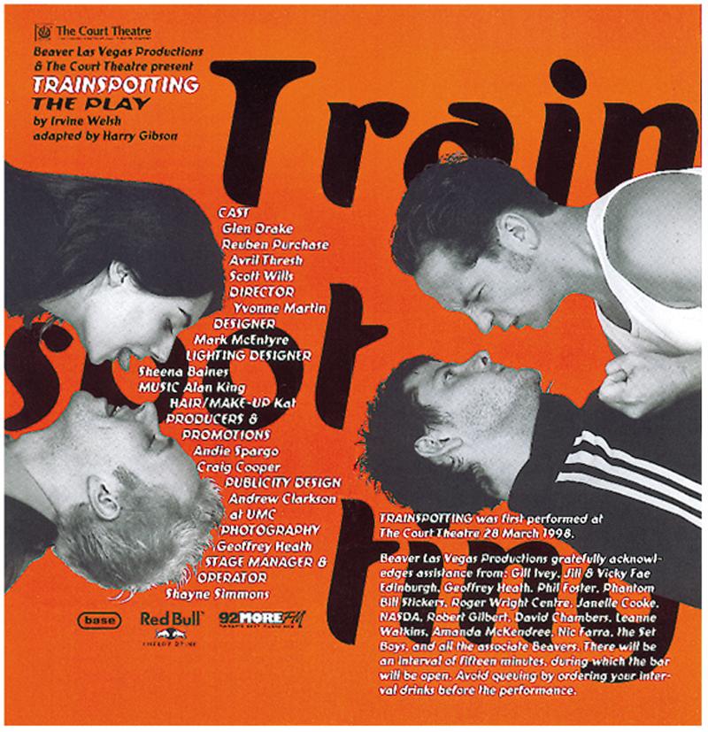 Program design for Trainspotting – the play.