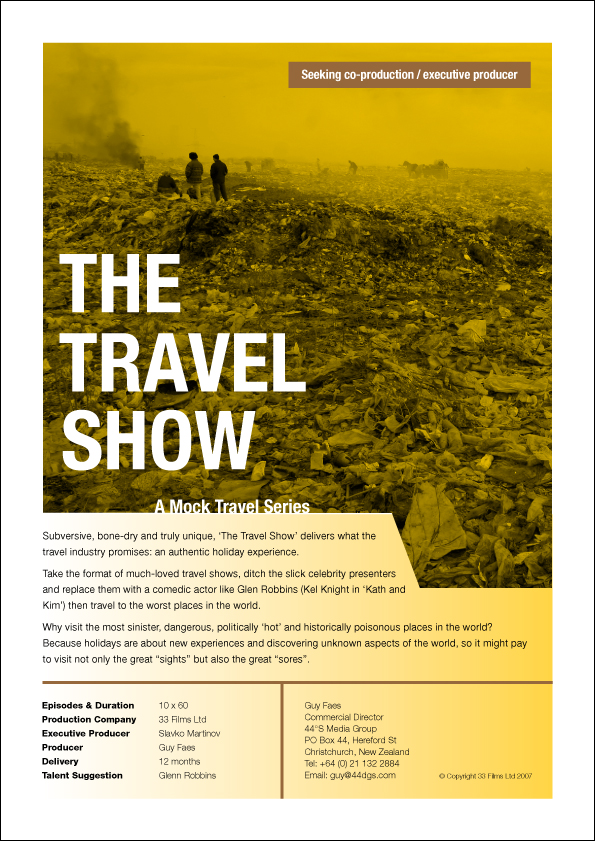 44°S Media Group – The Travel Show – recruitment flyer for doco series