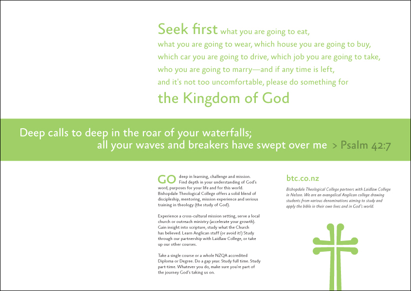 Bishopdale Theological College - brochure detail