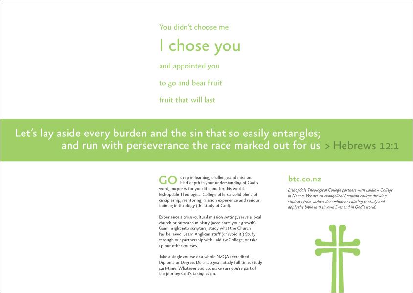 Bishopdale Theological College - brochure detail (alternate)