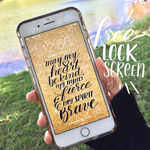 It's inspirational and sparkly. Check and check!