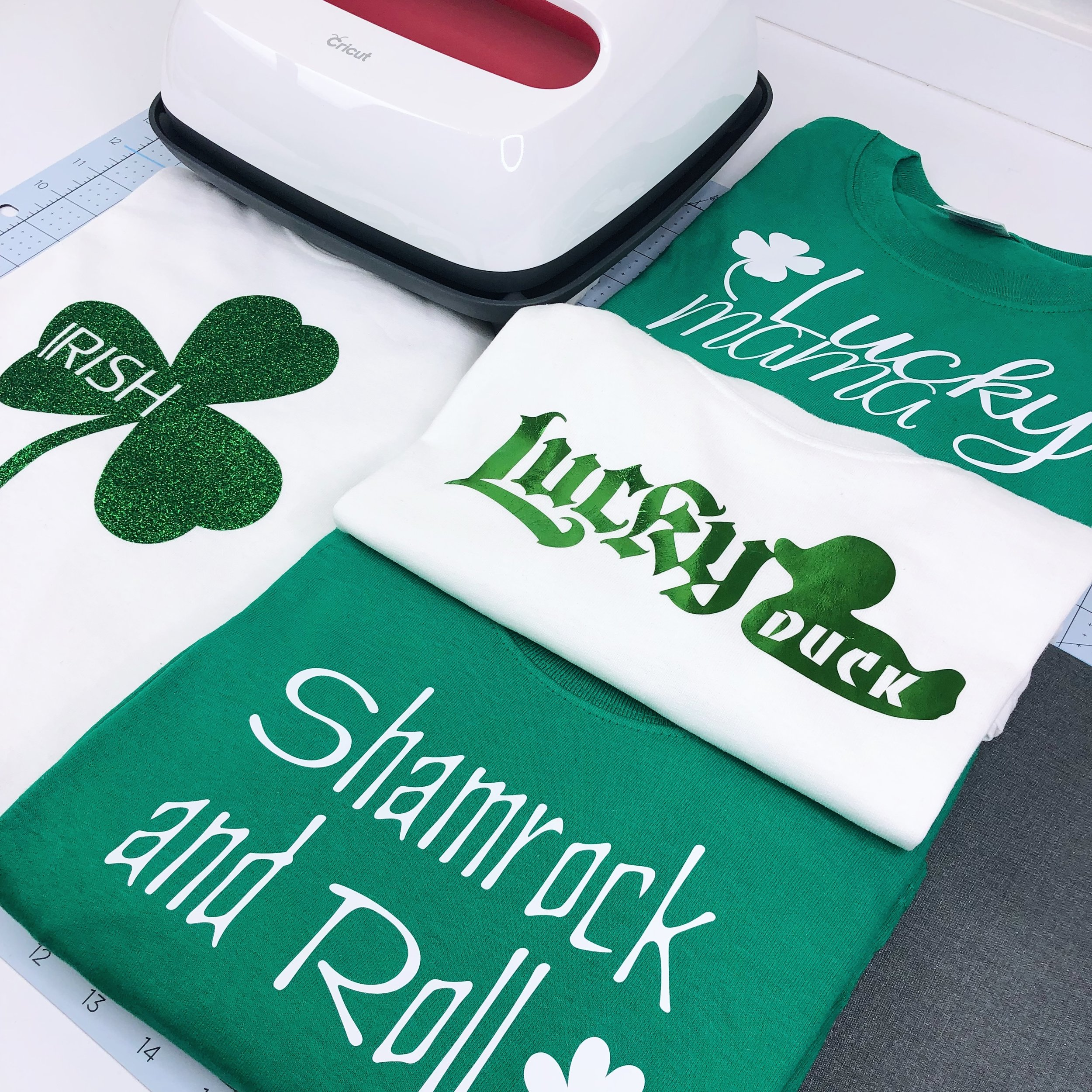 Ready to Shamrock 'n Roll with all these new designs. And all available in the Cricut Design Space.