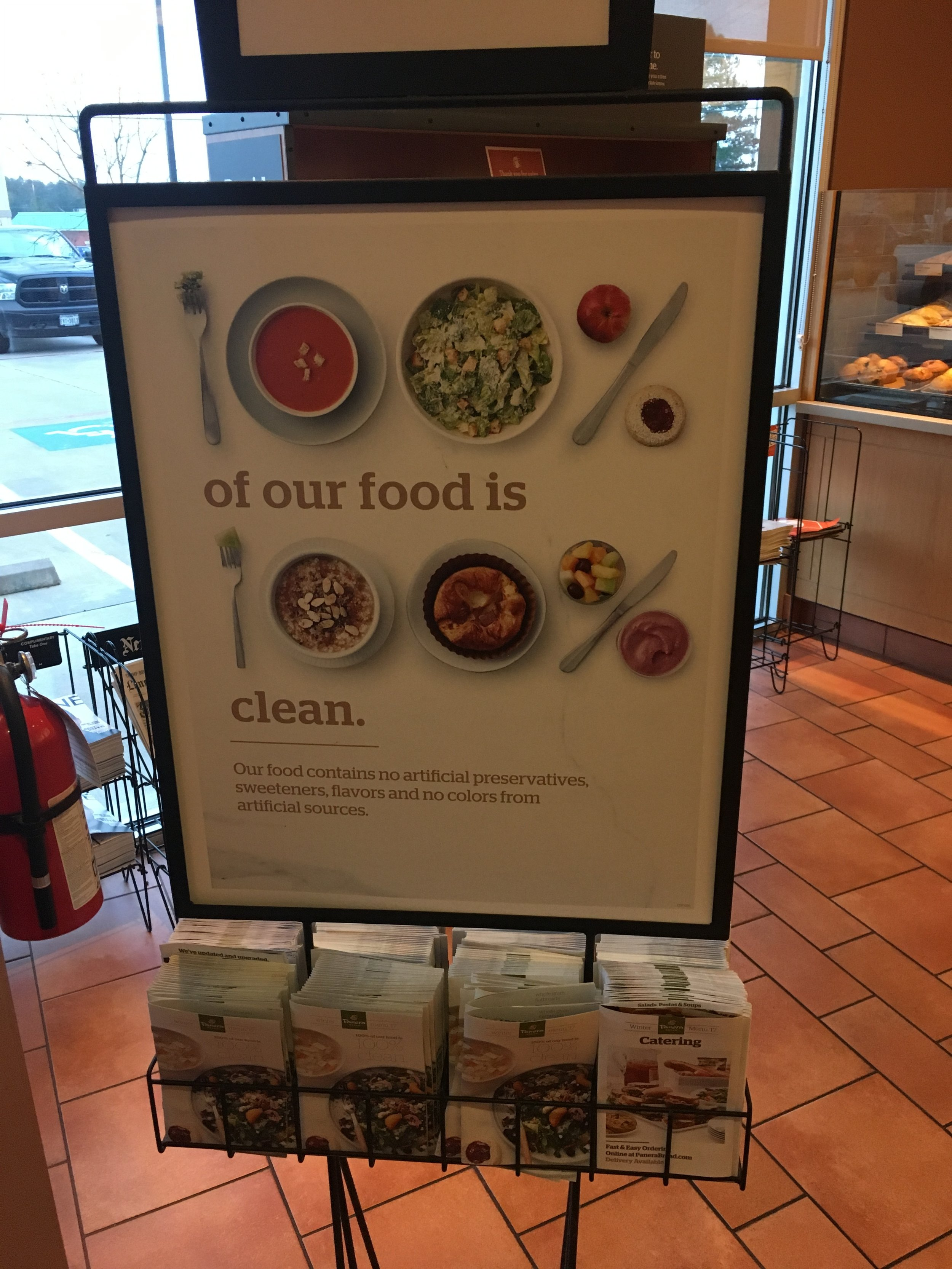 Panera's new clean campaign, snapped at my local store