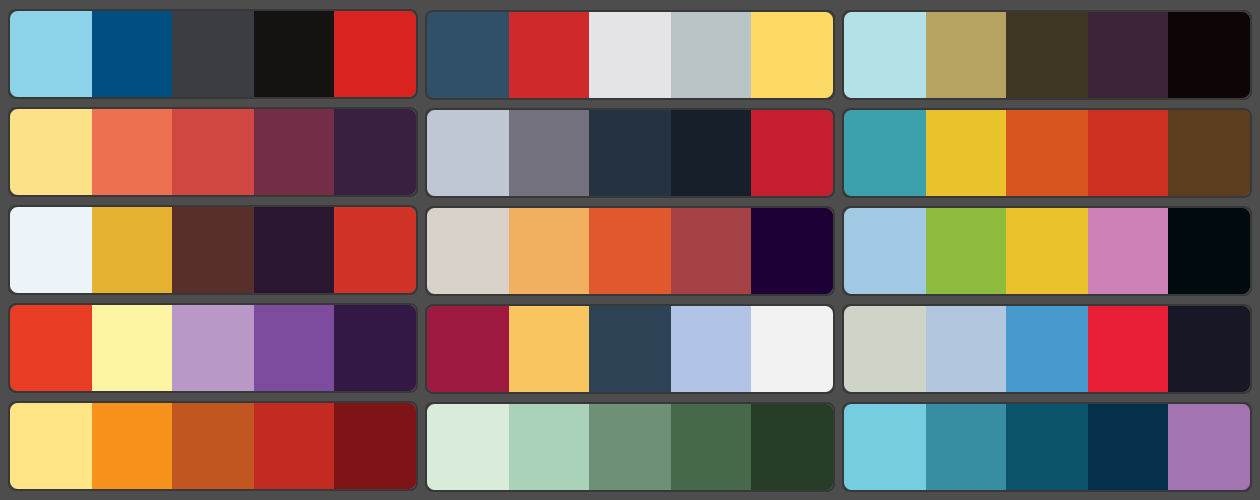 Movie poster palettes