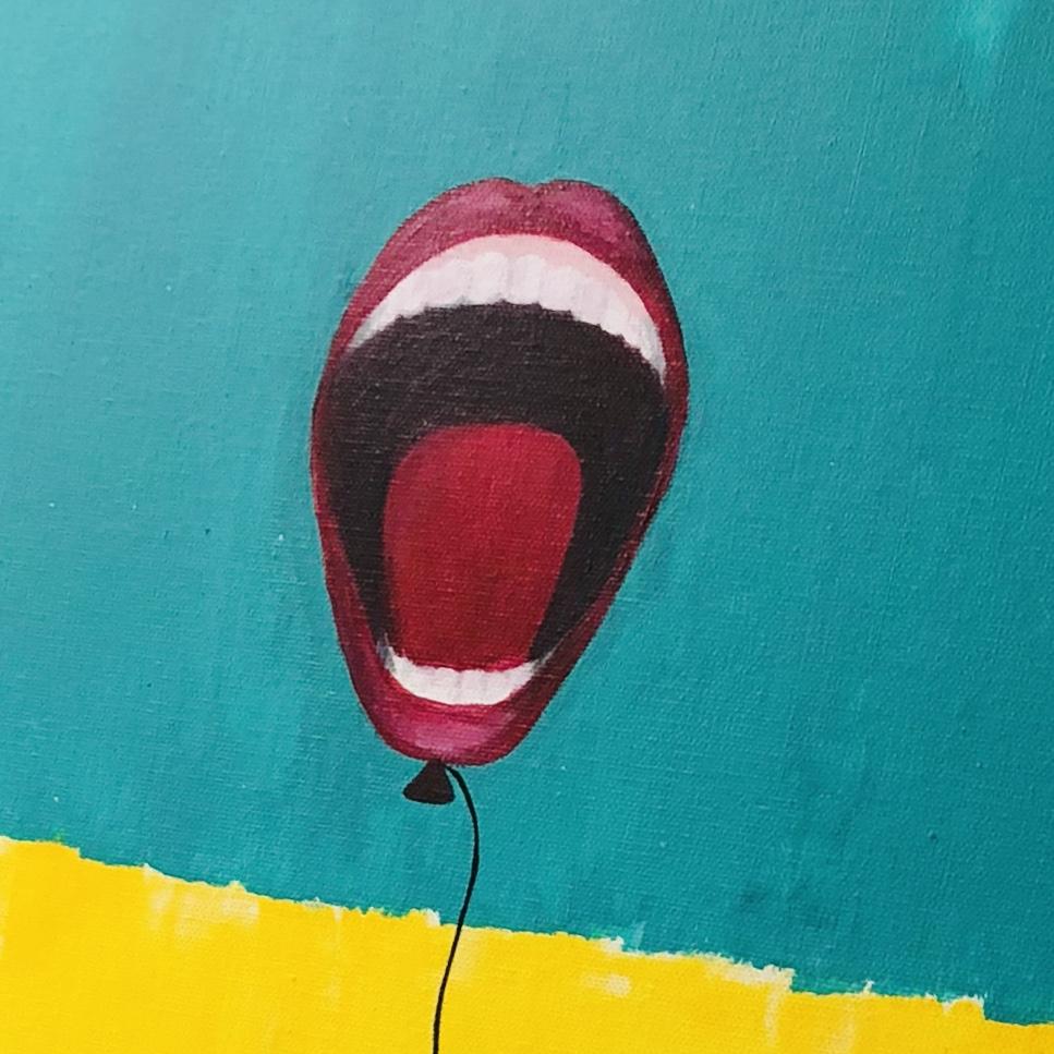 Speak Up: Acrylic on canvas 24x24