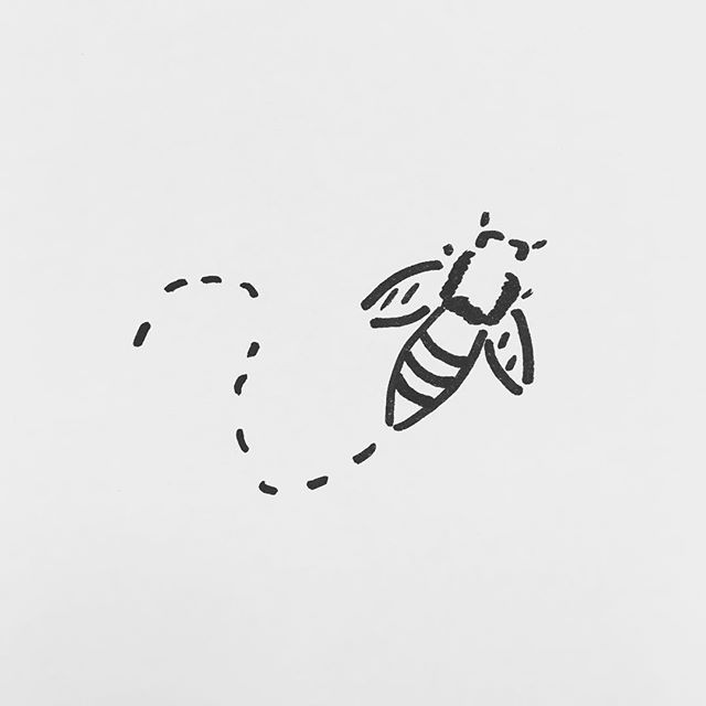 — sv95. | #bee #honey #hive #insect #scribble #sharpie #sketch