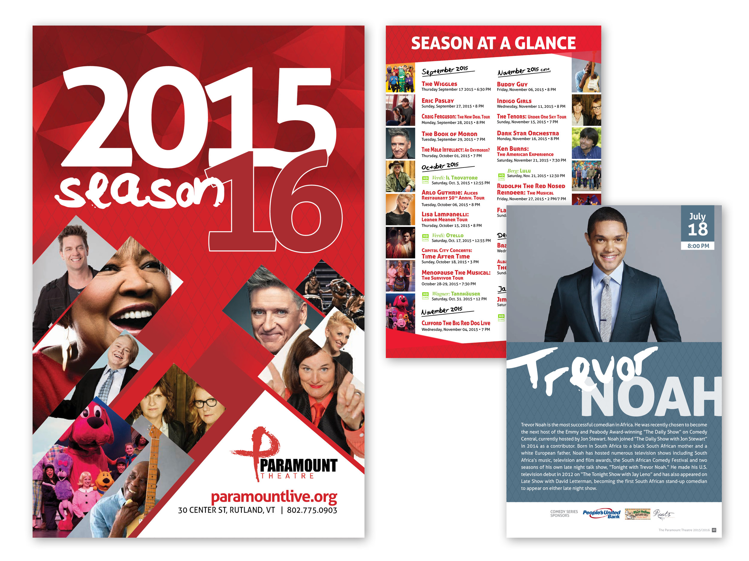 2015/16 Season Playbill, 100 pages