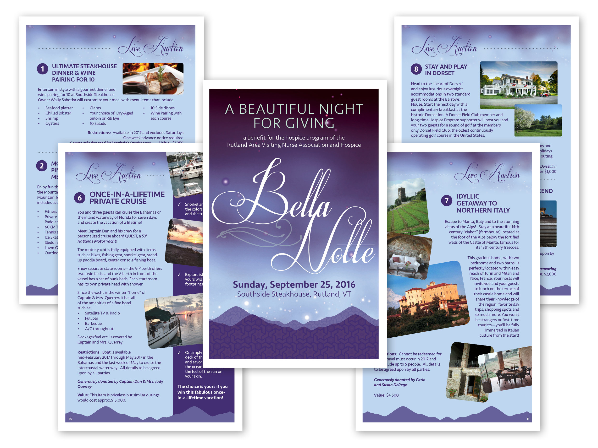 Fundraising Event Program, 16 pages