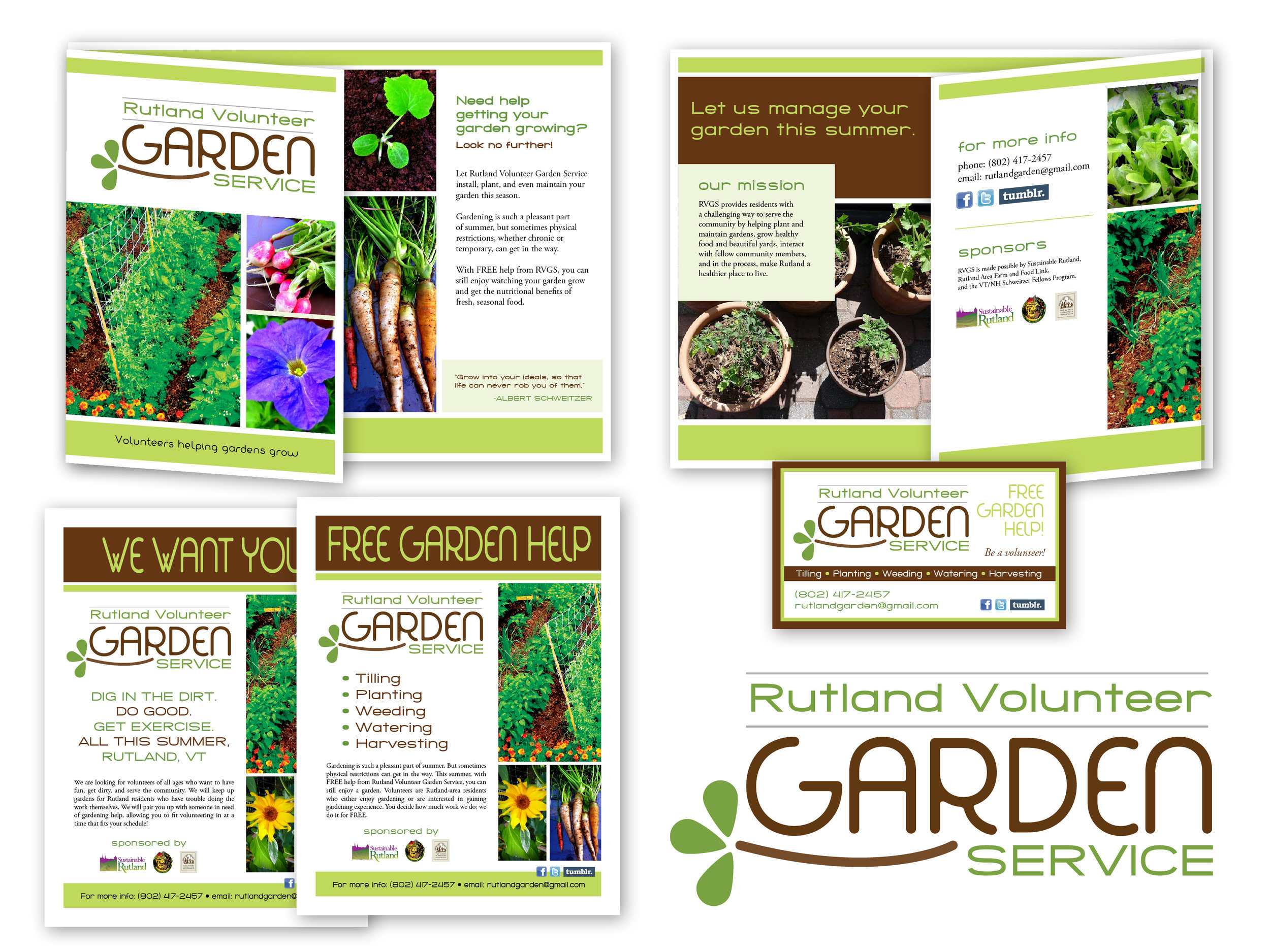 Logo, Trifold Brochure, Flyers, Business Card