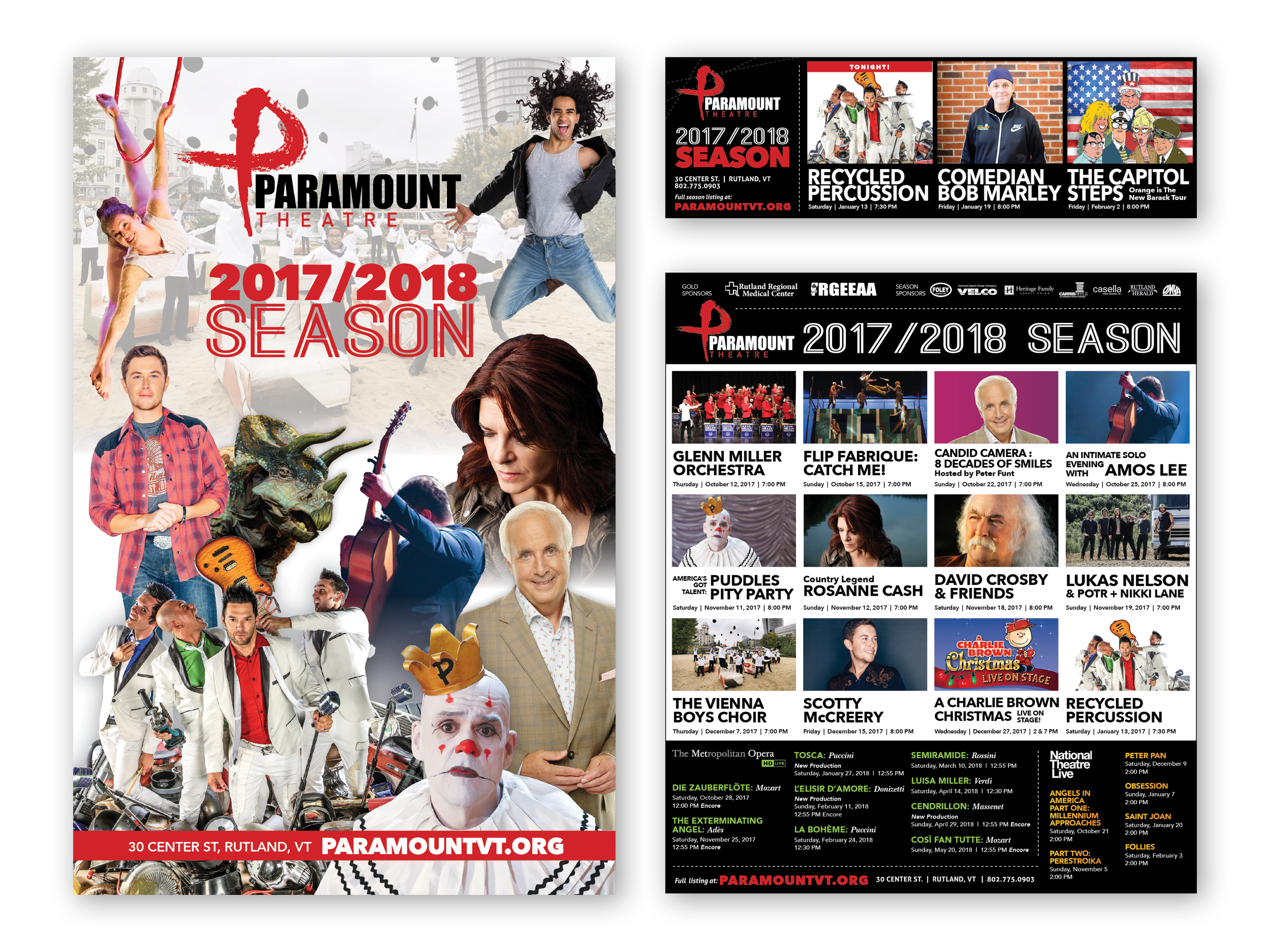 Paramount Theatre season ads & playbill