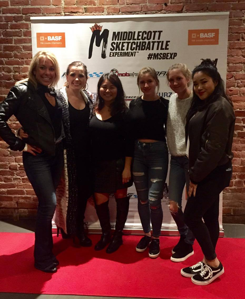 Project Beautiful - Inside and Out Board Members Nicole London, Natasha Milosavlevski and Doris Gilles with daughters Madison, Lilly and Sydney.