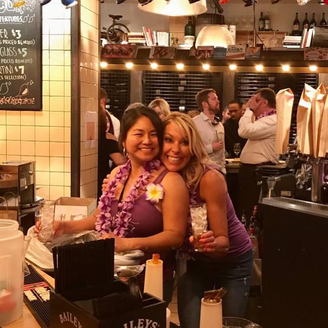 Doris and Nicole working the bar!
