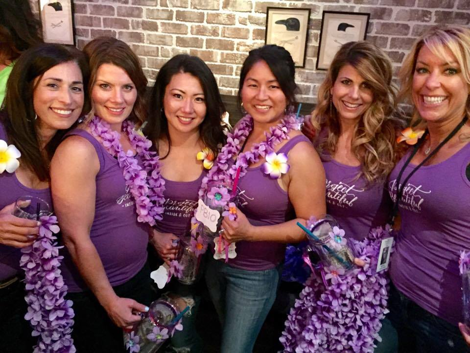 Team Project Beautiful - Inside and Out: Sharon, Tricia, Jenna, Doris, Leslie and Nicole