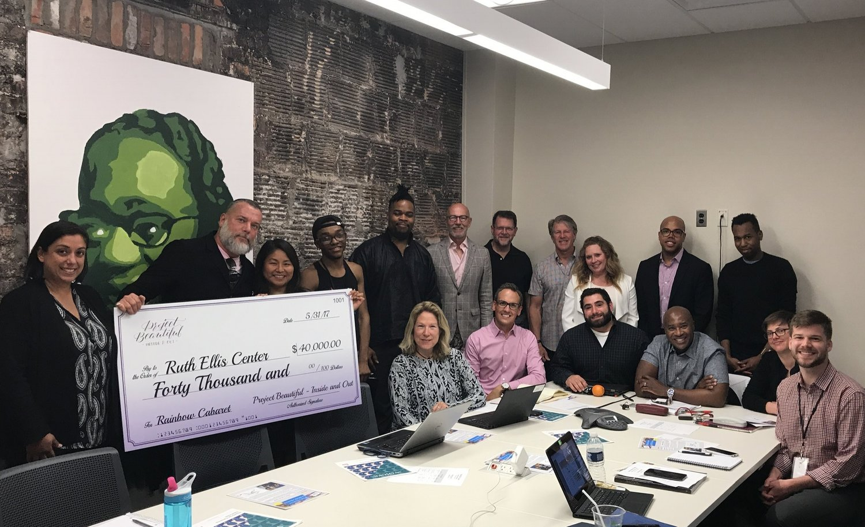 $40,000 Check Presentation to Ruth Ellis!