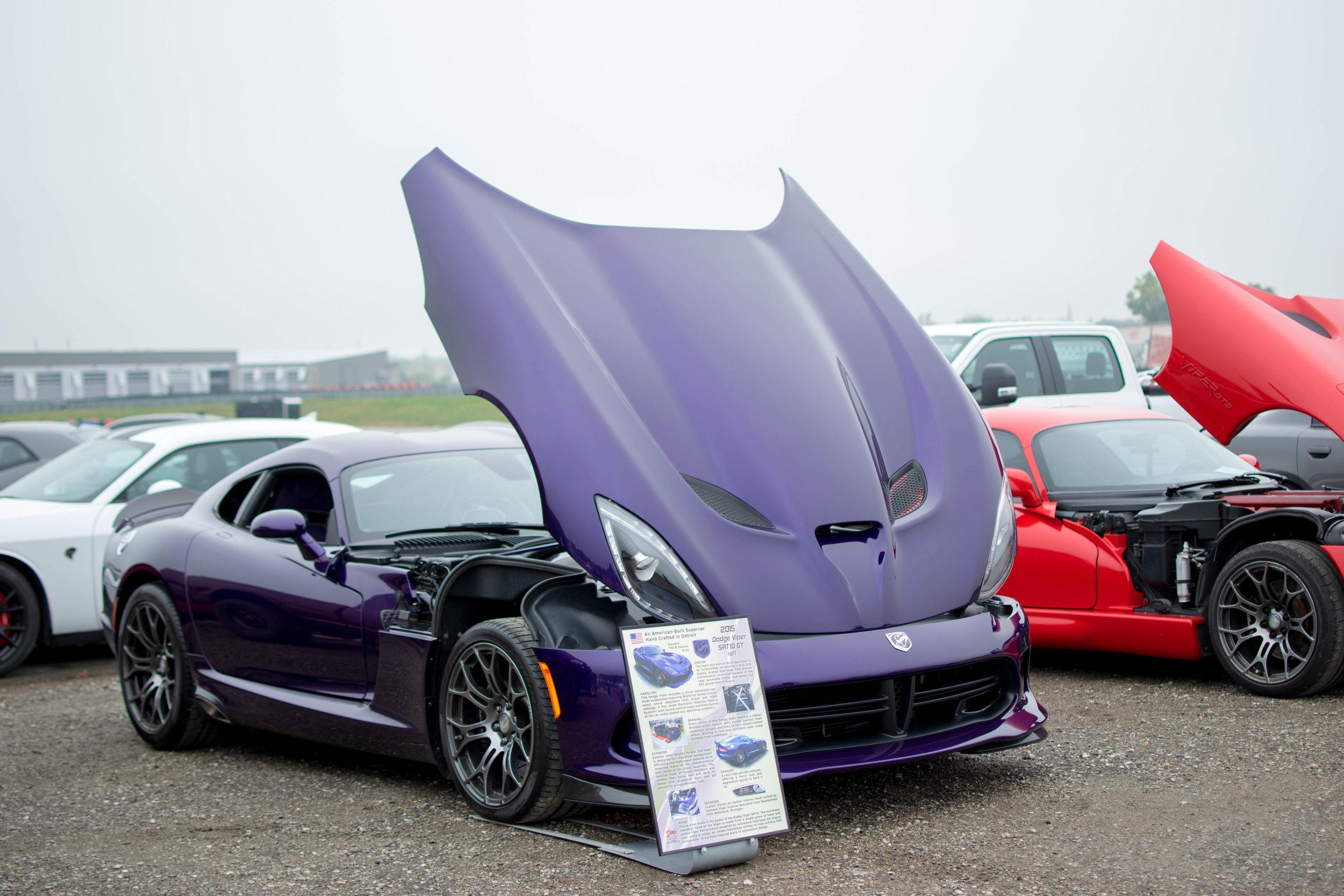 Ted Gray's purple Dodge Viper