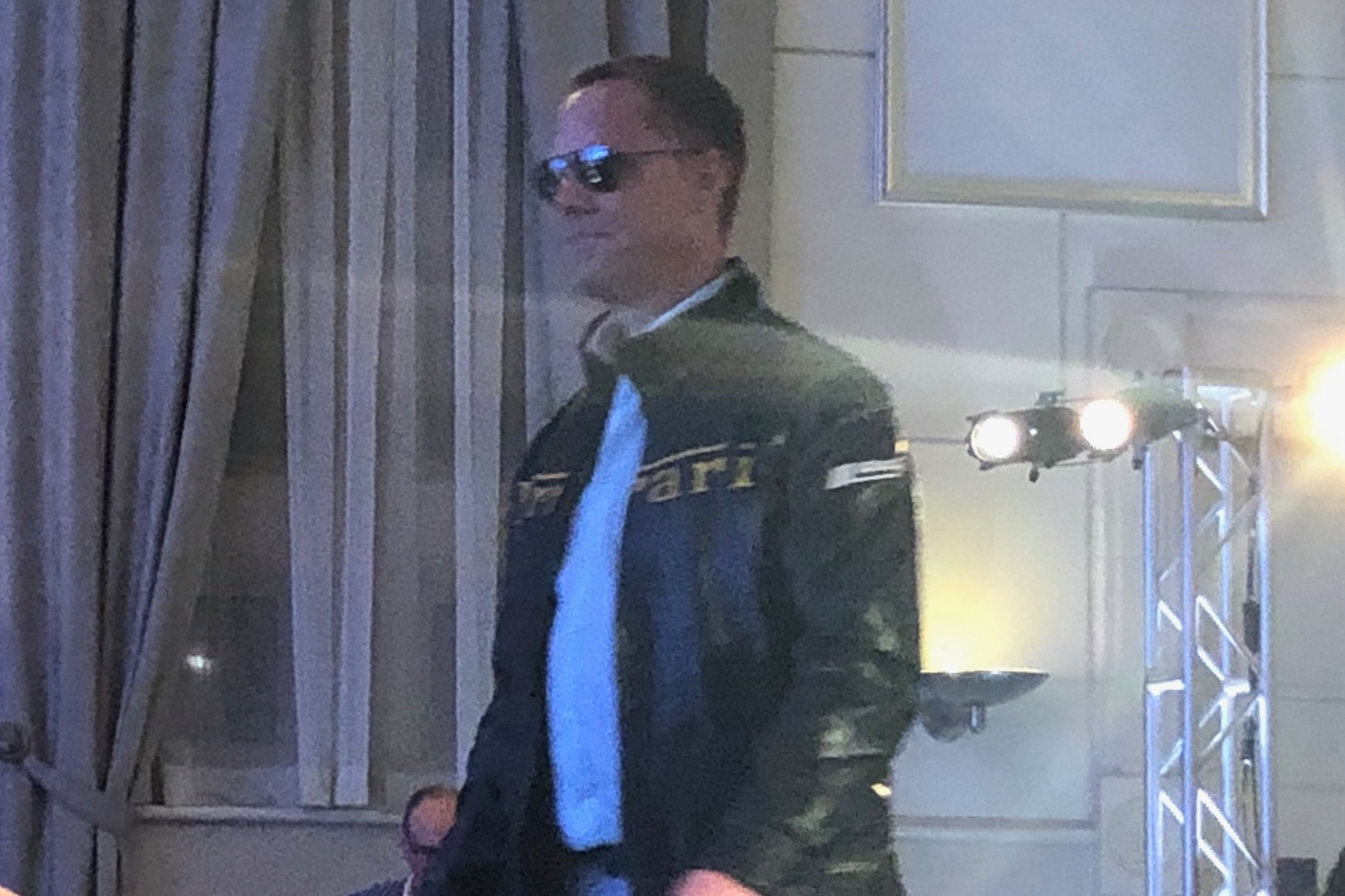 Walter Leather Company donates a custom designed leather jacket similar to this one modeled by Dave Sidlar.