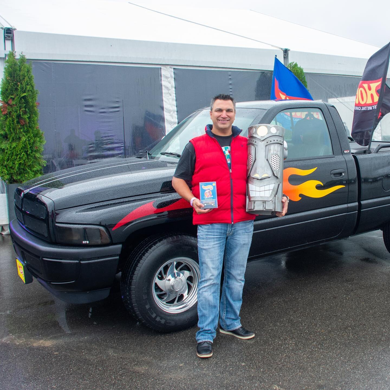 Car Show Warriors' Choice Winner - Matt Feher and his HotWheels Big Daddy Don Garlits limited edition truck!