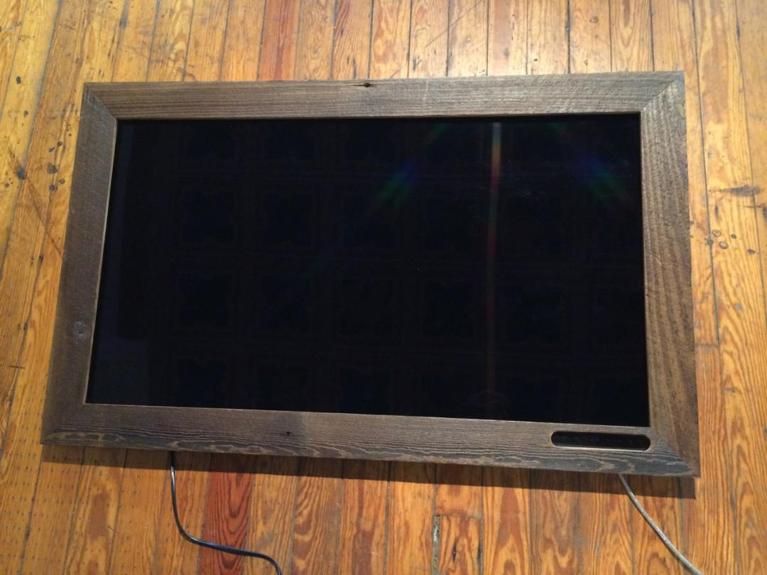 BARN WOOD TV FRAME
