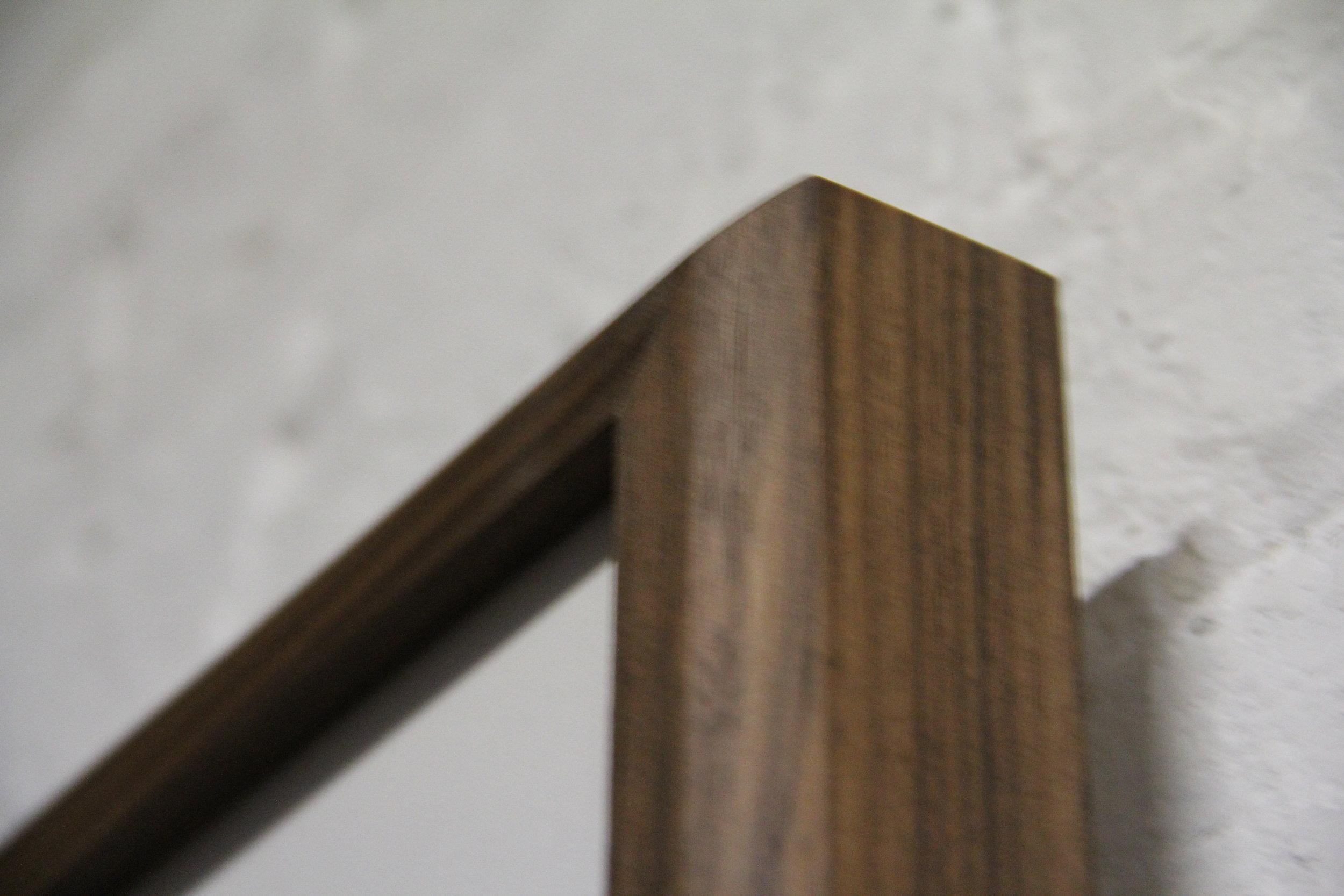 Beveled Walnut Frame