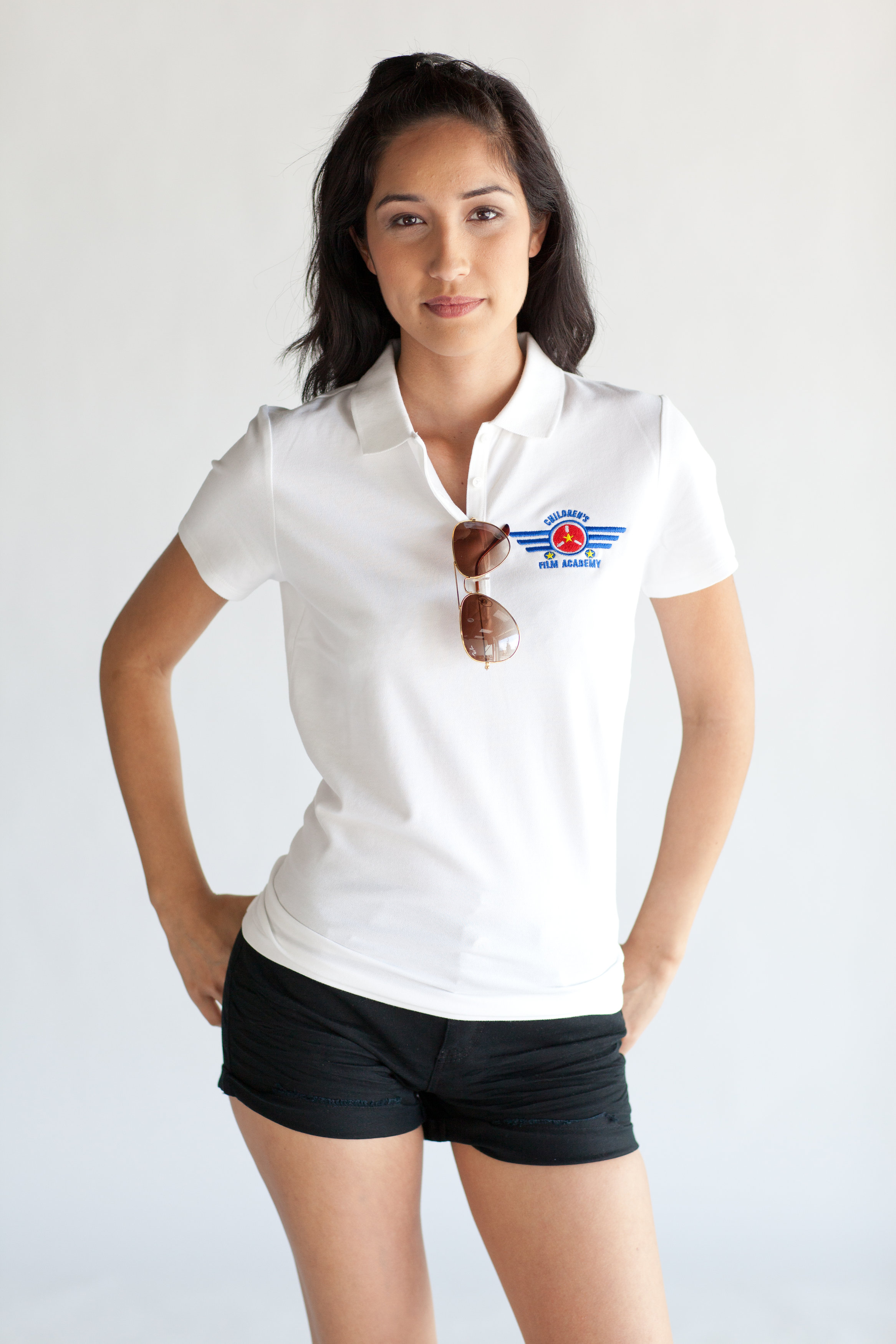 Woman's White Academy Polo $18