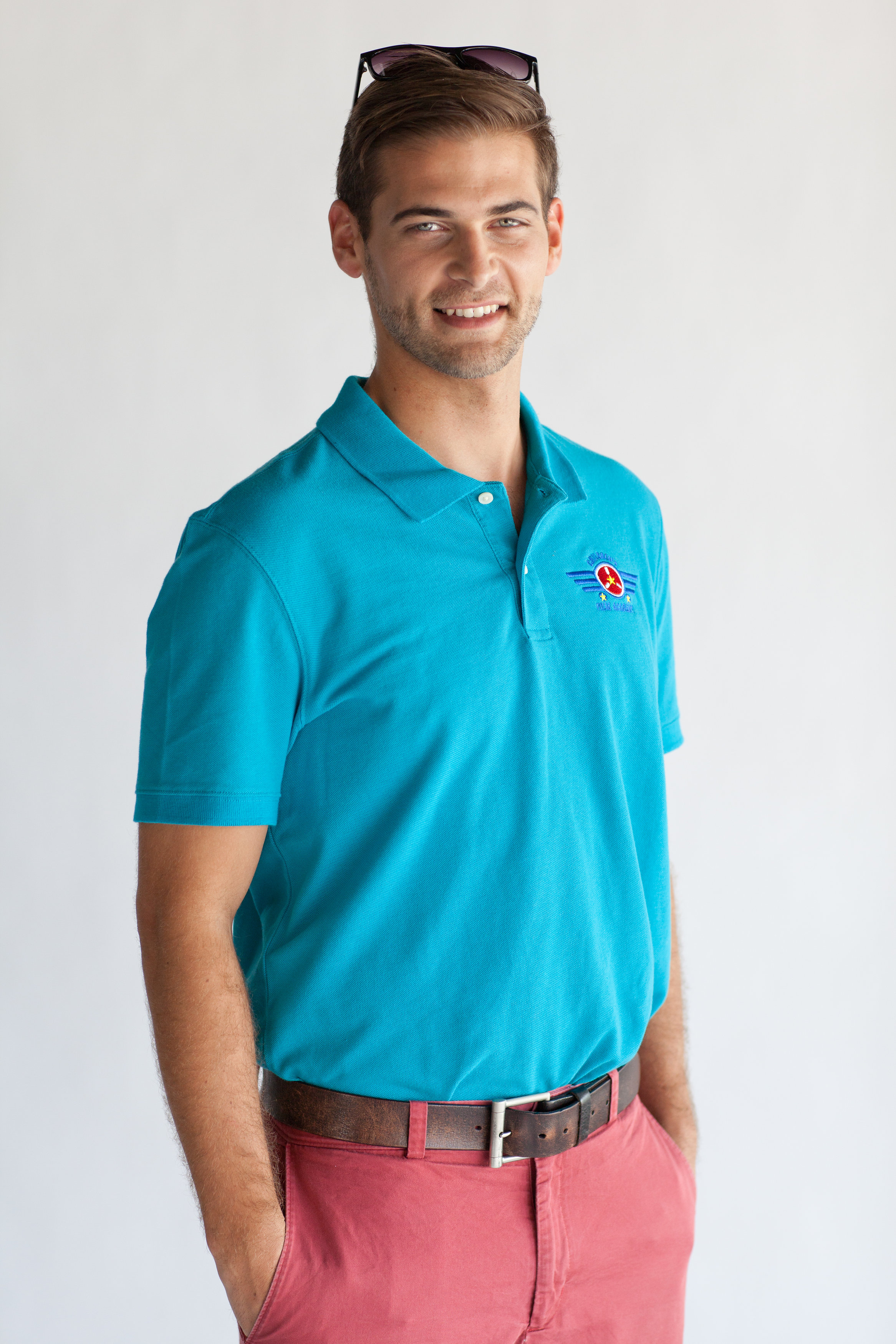 Men's Teal Academy Polo $18