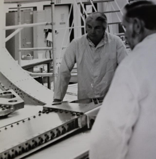 Founder Bob Melton on site at rockwell during our early days.